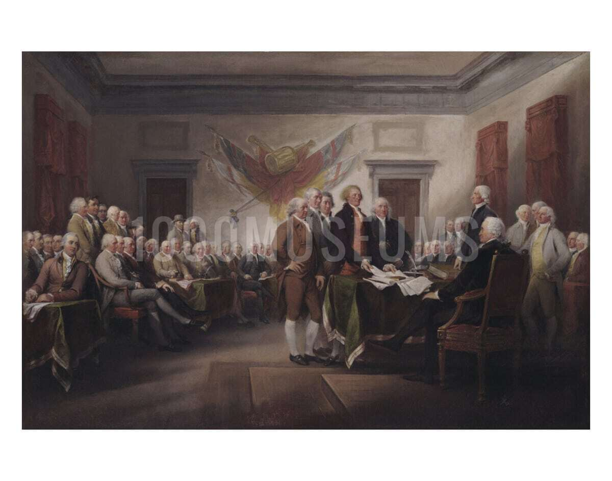 The Declaration Of Independence July 4 1776 1000museums